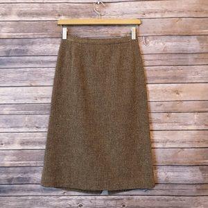 MaxMara textured knee length Virgin Wool skirt